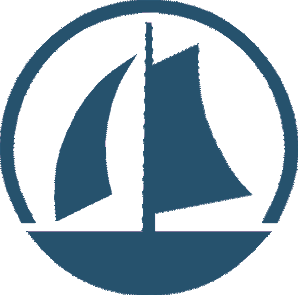 "A sailboat in representation of the district's motto of ""Charting the Course"""