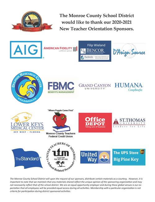 New Teacher Orientation Sponsors