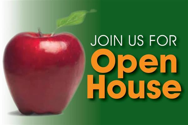 Open house-Wednesday, September 4th at 5:30