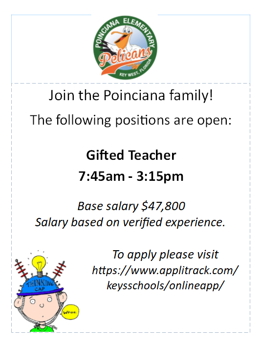 Positions Open- Come join the Poinciana Family!