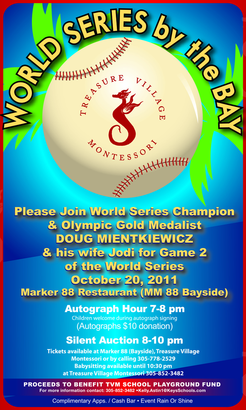 Treasure Village Montessori invites you to World Series by the Bay, a fundraiser benefitting the school.