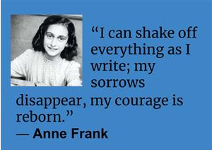 Anne Frank Quote about writing
