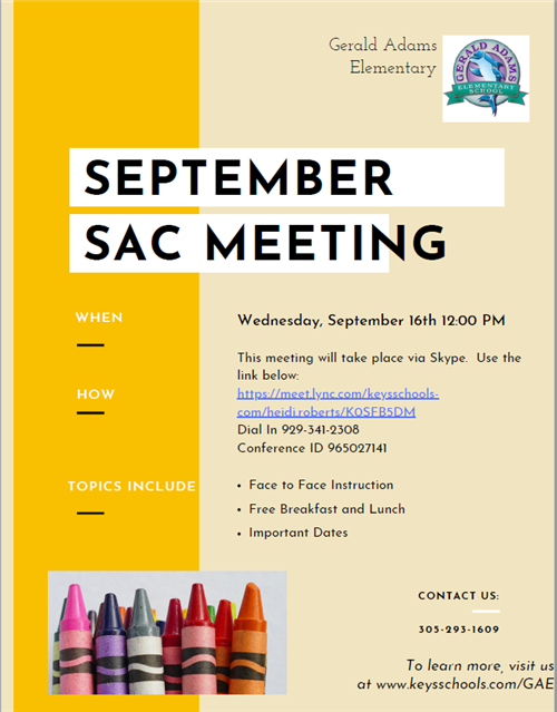 September SAC Flyer