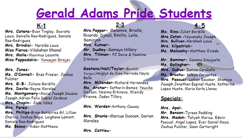 PRIDE students