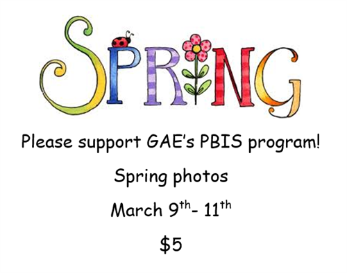 Spring Photos,  March 9-11, $5