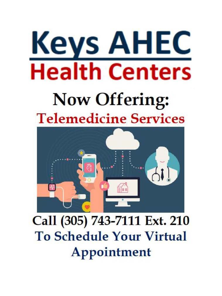 Updated AHEC Clinic Flyer and Telehealth Service Information